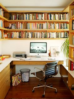 Inspiration Home Office Design Ideas. Therefore, the requirement for home offices.Whether you are planning on including a home office or restoring an old area into one, right here are some brilliant home office design ideas to assist you start. Home Library Design, Home Office Design, Home Office Decor, House Design, Home Decor, Office Ideas, Office Style, Office Designs, Cottage Office