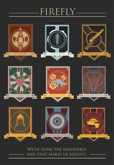 Addict With A Pen — The Firefly crest series i made with all the...