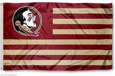 NCAA Florida State Seminoles Flag With Stripes