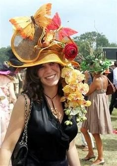 """This is supposed to be a """"Butterfly Garden Hat"""".  I can certainly see something swarming around this headpiece!"""