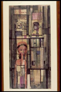 Untitled (Girl with Birdcage)Artists: Cheong Soo Pieng (1917 - 1983)
