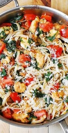 Shrimp, Tomato, And Spinach Pasta In Garlic Butter Sauce     Once you realized you're neither going to make plain usual pasta for dinner, nor spending lot of time creating tasty combos at kitchen, this recipe is such a life-saver. If you have all the needed ingredients it will make a great alternative to regular pasta dish. This pasta is so remarkable and fabulous because of […]  Continue reading...    The post  Shrimp, Tomato, And Spinach Pasta In Garlic Butter Sauce  appeared first..