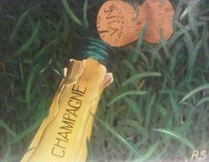 Champagne dans la Parc, Oil on canvas.