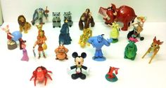19.95 Disney Character Plastic Figure Lot Tarzan Lion King Hercules Bambi Genie Mushu  #Disney #DisneyCharacterLot #DisneyFigurine #HappyMealToys