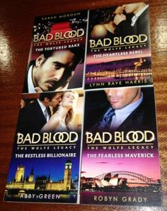4 NEW Mills AND Boon BAD Blood THE Wolfe Legacy Romance Book Series – Bulk 201 | eBay New Mills, The Restless, Bad Blood, 4 News, Romance Books, Fiction Books, Book Series, Ebay, Romance Novels
