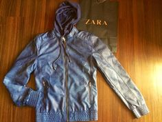 Fierce Blogs: Zara Man Jacket - Faux Leather Jacket with Hood (Color Blue)  www.ericcapacia.com Leather Jacket With Hood, Faux Leather Jackets, Zara Man Jacket, Color Blue, Mens Fashion, Clothes, Style, Moda Masculina, Outfits