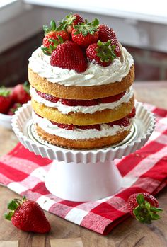 Strawberry Shortcake Layer Cake | Erica's Sweet Tooth