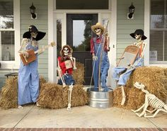 How about a skeleton Bluegrass Band for your front porch this Halloween?