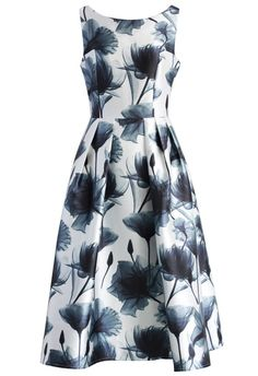 Dreamy Lotus Print Prom Dress - New Arrivals - Retro, Indie and Unique Fashion