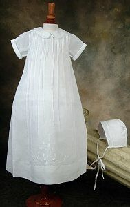 Feltman Brothers Boy's Christening Gown. Available at Over the Moon, Bountiful.