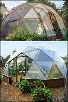 Garden Composting Extend the Growing Season of Your Garden by Building a Stunning Geodesic Greenhouse! - Build a beautiful geodesic greenhouse to extend the growing season in your garden!