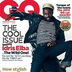 GQ UK Idriss Elba- great celebrity to have as he is famous, handsome and will appeal to the male target market
