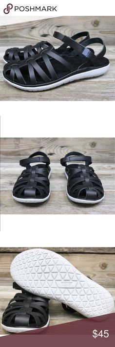 Teva Terra-Float Stella Lux Black Leather Sandals New with box  Teva Shoes Sandals