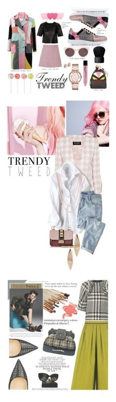 """""""Winners for Trendy Tweed"""" by polyvore ❤ liked on Polyvore featuring Karl Lagerfeld, Moschino, Gucci, T By Alexander Wang, Christian Dior, NARS Cosmetics, Fendi, NYX, Marc by Marc Jacobs and Links of London"""
