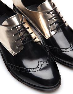 Sapatos blucher metalizados - TODOS - MULHER | Stradivarius Portugal