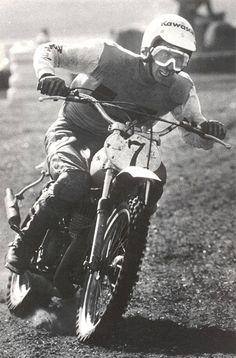 1974 The Jammer, Jimmy Weinert Motocross Racer, Motocross Bikes, Vintage Motocross, Racing Motorcycles, Vintage Bikes, Vintage Motorcycles, Old Scool, Kawasaki Bikes, Grand National