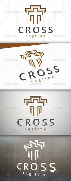 Cross Logo — Vector EPS #priest #charity • Available here → graphicriver.net/...