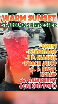 Starbucks Specialty Drinks, Bebidas Do Starbucks, Healthy Starbucks Drinks, Starbucks Secret Menu Drinks, Starbucks Smoothie, Coffee Drink Recipes, Alcohol Drink Recipes, Healthy Drink Recipes, Summer Drink Recipes