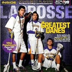 The 'Thompson trio' on the cover of Inside Lacrosse magazine's February 2014 edition (Inside Lacrosse)