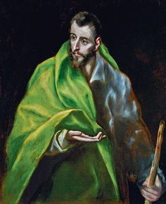 Photograph-The Apostle Saint James the Great. Artist: El Greco, Dominico print made in the UK Francisco Goya, Spanish Painters, Spanish Artists, Saint James, Catholic Art, Religious Art, Rembrandt, St James The Greater, Diego Velazquez