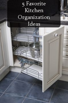 5 really great ideas for kitchen organization.
