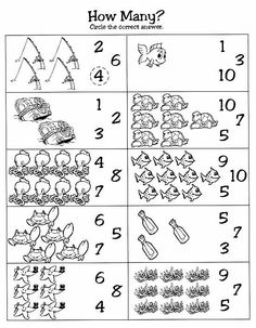 Ocean themed counting page preschool curriculum, preschool math, numbers preschool, kindergarten worksheets, Numbers Preschool, Preschool Curriculum, Math Numbers, Preschool Math, Kindergarten Worksheets, Worksheets For Kids, In Kindergarten, Homeschooling, Sea Activities