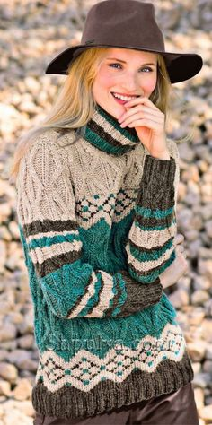 Free and Sweet and Cool Crochet Sweater Pattern Ideas Part 43 ; knitting sweaters for women; knitting sweaters for beginners Sweater Knitting Patterns, Knitting Designs, Knitting Sweaters, Free Knitting, Free Crochet, Crochet Patterns, Casual Outfits, Fashion Outfits, Moda Vintage