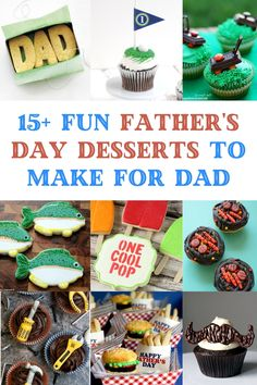 Toddler Home Activities, Father's Day Activities, Fathers Day Cupcakes, Fathers Day Cake, Desserts To Make, Delicious Desserts, Dessert Recipes, Diy Father's Day Gifts, Father's Day Diy
