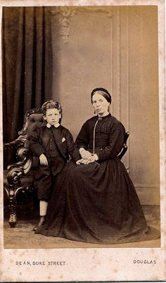 English Albumen Carte de Visite of Woman in Mourning with Son, circa 1864 | Flickr - Photo Sharing!