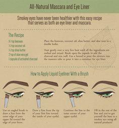 DIY Organic Makeup - All Natural Mascara and Eye Liner