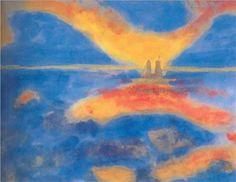 Emil Nolde, Sunrise at the Sea, 1927
