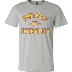 PANTHERS VS Everybody (Prairie View A&M inspired - yellow)