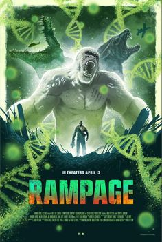 Rampage Movie Poster ( of New Movie Posters, New Poster, Film Posters, Latest Hollywood Movies, Latest Movies, Dwayne Johnson, Streaming Movies, Hd Movies, Movies Online