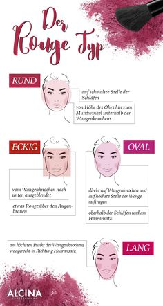 Wir zeigen euch, je nach Gesichtstyp, wo… The blush order is different for everyone. We show you, depending on the type of face, where you can apply the blush. 🙂 Which face shape suits yours? Highlighter Makeup, Contour Makeup, Contouring And Highlighting, Face Makeup, Light Makeup For Teens, Light Makeup Looks, Diy Makeup, Makeup Tips, Makeup Products