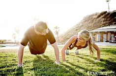 Featured Engagement Shoot: Working on our Fitness with Richelle  Eric / follow @TruePhotography
