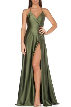 Olivia Evening Gown- OLIVE