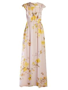 GIAMBATTISTA VALLI Floral-print silk-georgette gown. #giambattistavalli #cloth #gown