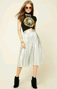 3b5b4455f4642 Outfit con falda tendencias otoño-invierno 2018 – Tendencia letra por letra  Sequin Skirt