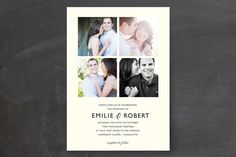 Moments Captured Wedding Invitations by Carrie Eckert at minted.com