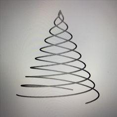 Redefining Christmas decorations. Tree of three spirals - wire #madebymagnusgreni