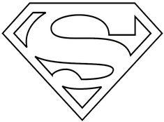 Superman Logo Coloring Pages Logo Superman, Superman Cakes, Batman, Superman Clipart, Superman Birthday, Superhero Birthday Party, Superhero Logo Templates, Superhero Logos, Shield Template