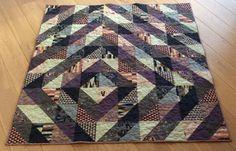 Noras tæppe, mønstret har jeg set på nettet. Tæppet er lavet af økologisk bomuld!
