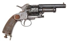 Engraved LeMat revolver | Very rare, engraved 'baby' LeMat snub-nosed revolver.