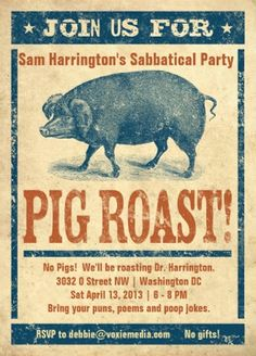 """invite to Sam's sabbatical party... what we called it before """"Gap Year After Sixty"""""""