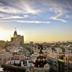 Vistas desde la azotea del Circulo de Bellas Artes, Madrid, Spain