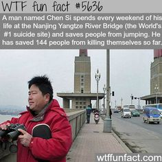Man spends every weekend of his life saving people from suicide - WTF fun fact Wow Facts, Wtf Fun Facts, Funny Facts, Random Facts, The More You Know, Did You Know, Faith In Humanity Restored, Guy Names, Life Savers