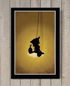 Pinocchio Wooden Boy - Art Print / Poster