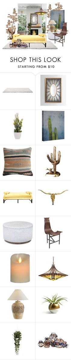 """""""Southwest Decorating"""" by neicy-i on Polyvore featuring interior, interiors, interior design, home, home decor, interior decorating, John-Richard, Kristin Drohan Collection, Dot & Bo and Meyda"""