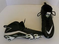Nike Speed Strike Mens 442253-010 Black White Football Cleats Shoes Size 9.5 #Nike #FootballCleats