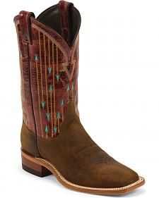 Justin Bent Rail Arrow Stitched Cowgirl Boots - Square Toe Justin Bent Rail Arrow Stitched Cowgirl B Mode Country, Country Boots, Country Style, Over Boots, Long Boots, Justin Boots, Cowboy Boots Women, Western Boots, Cowgirl Boots For Girls